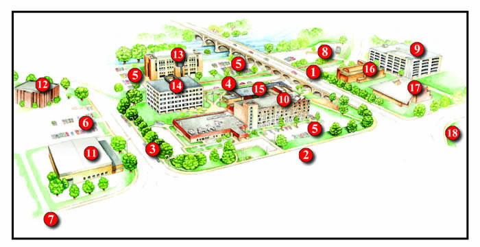 Campus Map and Directions | RACC