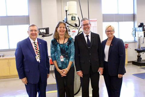 Drexel University president tours Reading Area Community College advanced science labs