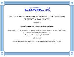 RACC Wins Prestigious Credentialing Success Award from CoARC